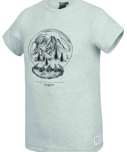 T-shirt Snowy Land Dad & Son Grey Melange