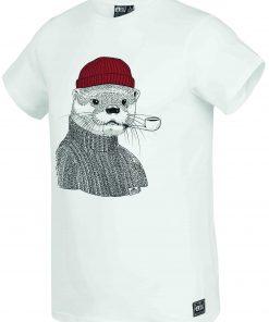 T-shirt Lazy White