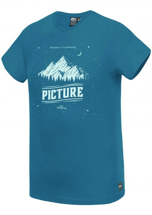 T-shirt Landscape Petrol Blue