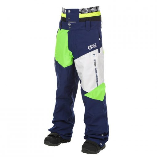 PICTURE ORGANIC Nova Pant Dark Blue White Neon Green